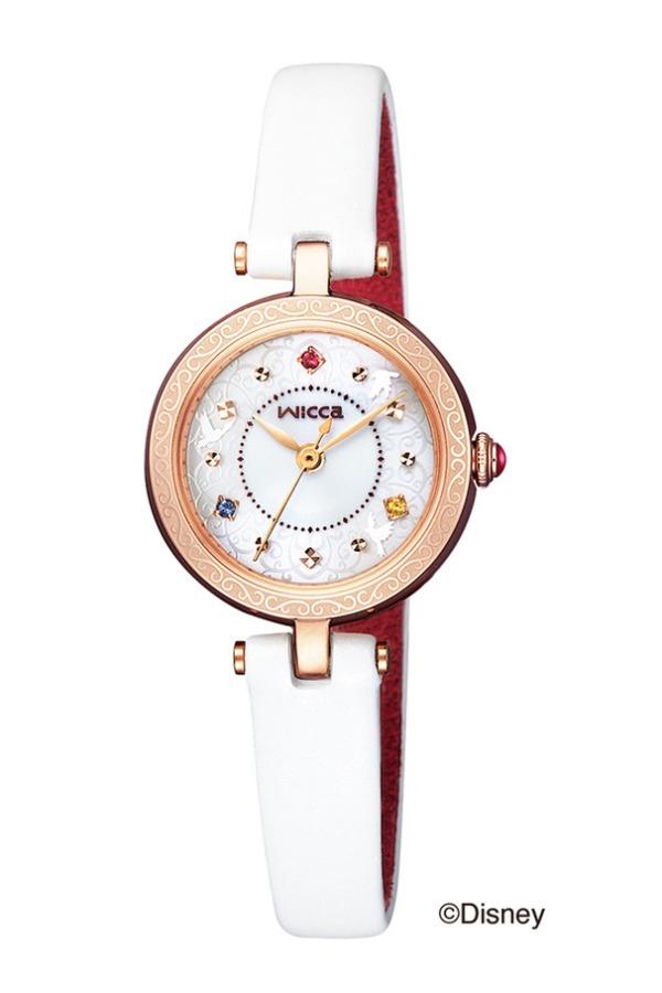 シチズンのウィッカから『白雪姫』モデルの限定時計発売!